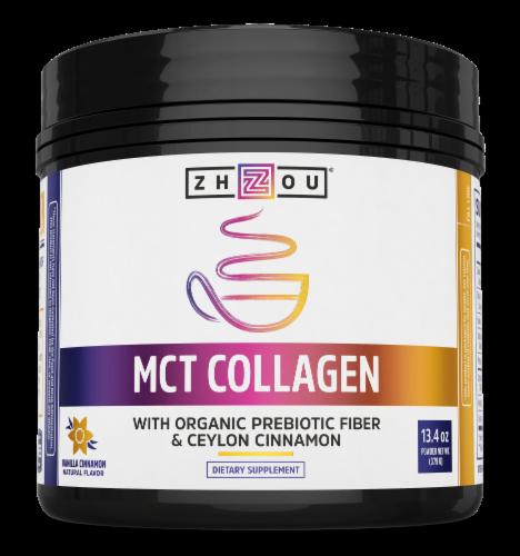 Zhou MCT Collagen Dietary Supplement Perspective: front