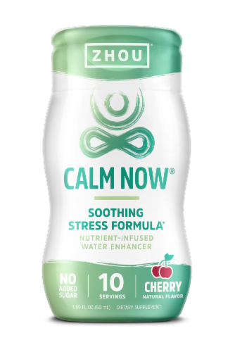 Zhou Calm Now Cherry Water Enhancer Perspective: front