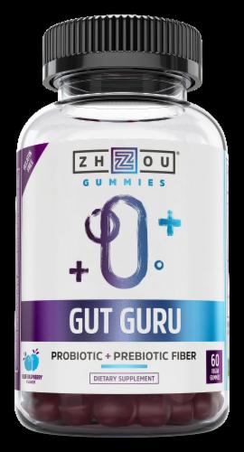 Zhou Gut Guru Probiotic Gummies Perspective: front