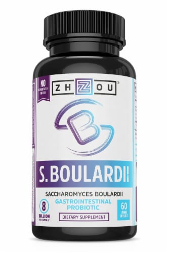 Zhou Saccharomyces Boulardii Veg Capsules 60 Count Perspective: front