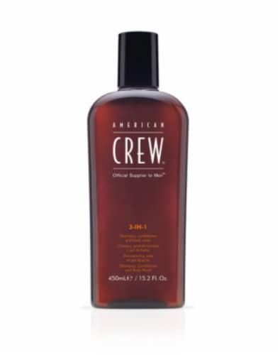 American Crew 3 in 1 Tea Tree Shampoo Perspective: front