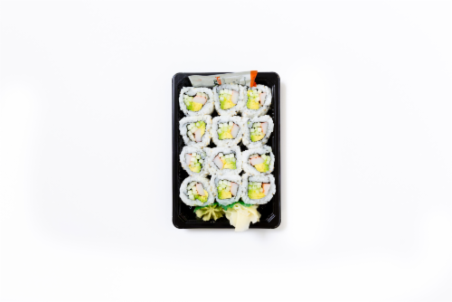 California Roll (NOT AVAILABLE BEFORE 11:00 am DAILY) Perspective: front