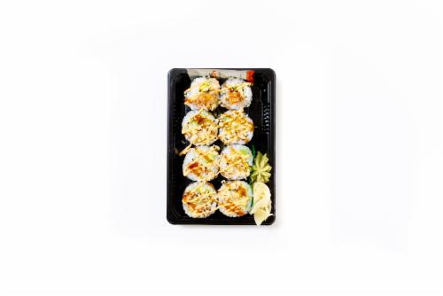 Hissho Shrimp Tempura Roll Perspective: front