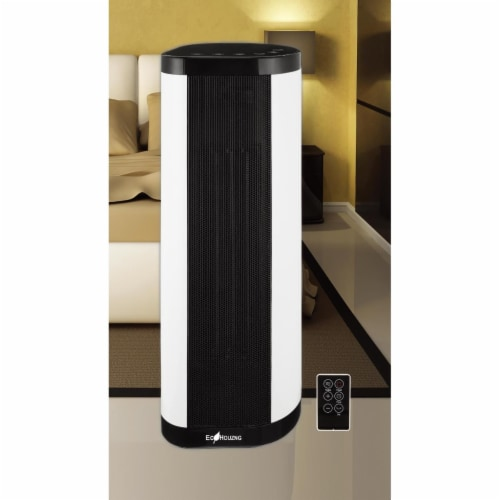 Ecohouzng ECH3018 22 in. Tower Ceramic Fan Heater with Remote Perspective: front