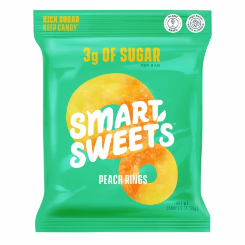Smart Sweets Peach Rings Candy Perspective: front