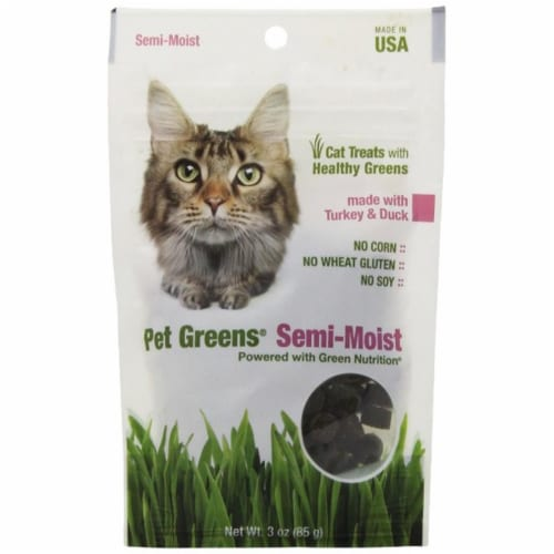 Pet Greens 12004 3 oz. Semi Moist Cat Treat - Turkey and Duck Perspective: front