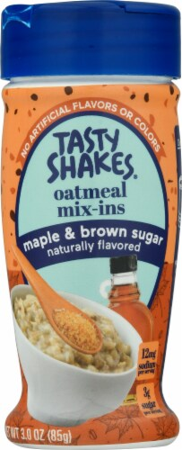 Tasty Shakes Maple & Brown Sugar Oatmeal Mix-Ins Perspective: front