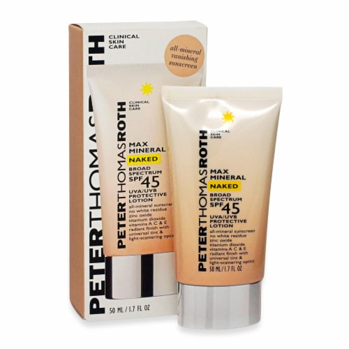 Peter Thomas Roth Max Mineral Naked Lotion SPF45 Perspective: front