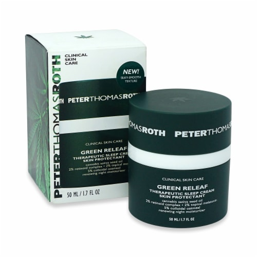 Peter Thomas Roth Green Releaf Therapeutic Sleep Cream Skin Protectant Perspective: front