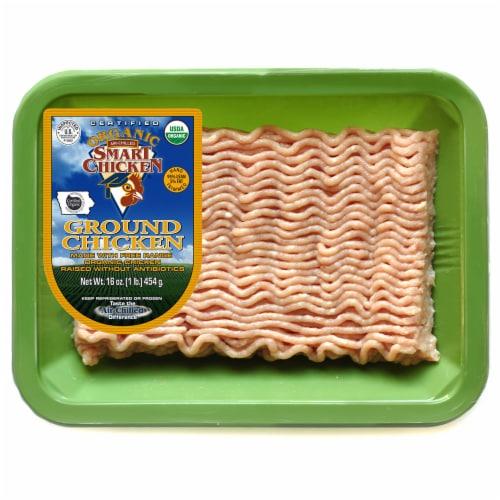 Smart Chicken Organic Ground Chicken 95% Lean Perspective: front