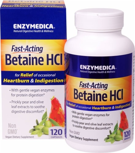 Enzymedica  Betaine HCl Perspective: front
