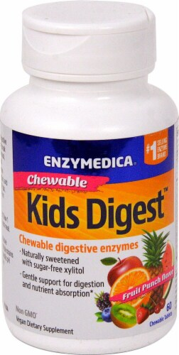 Enzymedica  Kids Digest™ Chewables   Fruit Punch Perspective: front