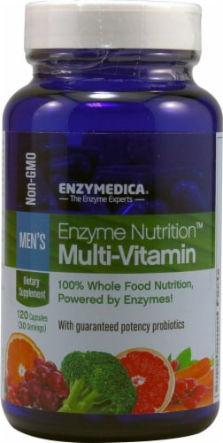 Enzymedica  Enzyme Nutrition™ Men's Multi-Vitamin Perspective: front