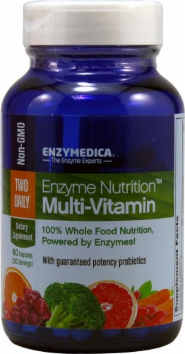 Enzymedica Enzyme Nutrition Two Daily Multi-Vitamin Capsules Perspective: front