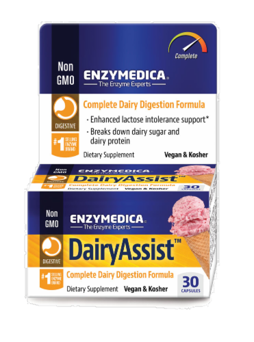Enzymedica Dairy Assist Perspective: front