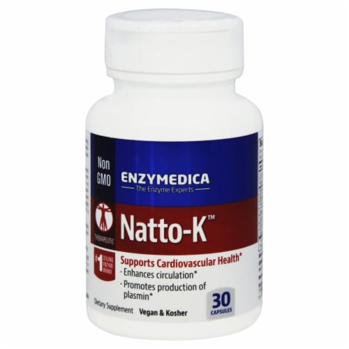 Enzymedica Natto-K Capsules Perspective: front