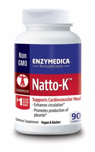 Enzymedica  Natto-K™ Dietary Supplement Capsules Perspective: front