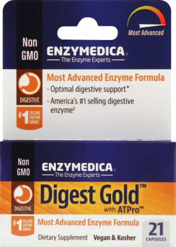 Enzymedica Digest Gold Dietary Supplement Capsules Perspective: front