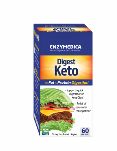 Enzymedica Digest Keto Capsules Perspective: front