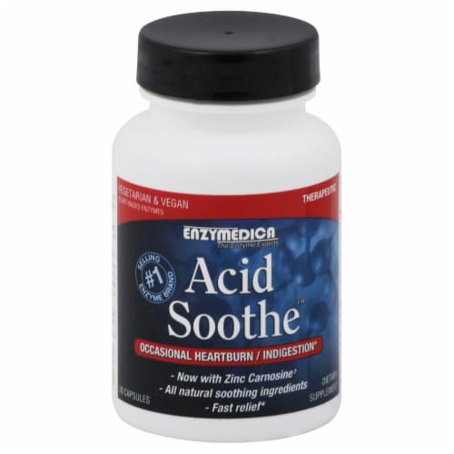 Enzymedica Acid Soothe Heartburn / Indigestion Supplement Perspective: front