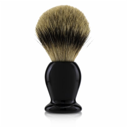 The Art Of Shaving Handcrafted 100% Fine Badger Shaving Brush  # Black - Perspective: front