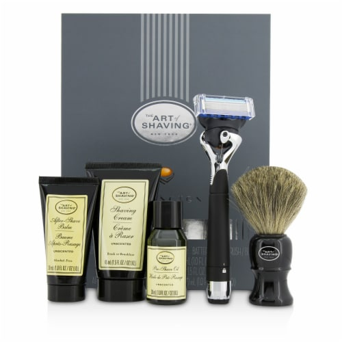 The Art Of Shaving Lexington Collection Power Shave Set: Razor + Brush + Pre Shave Oil + Shav Perspective: front