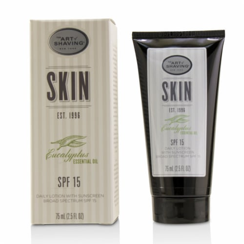 The Art Of Shaving Essential Oil Daily Lotion SPF 15  Eucalyptus 2.5 oz Perspective: front
