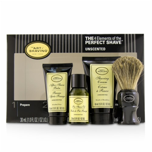 The Art Of Shaving The 4 Elements of the Perfect Shave MidSize Kit  Unscented 4pcs Perspective: front