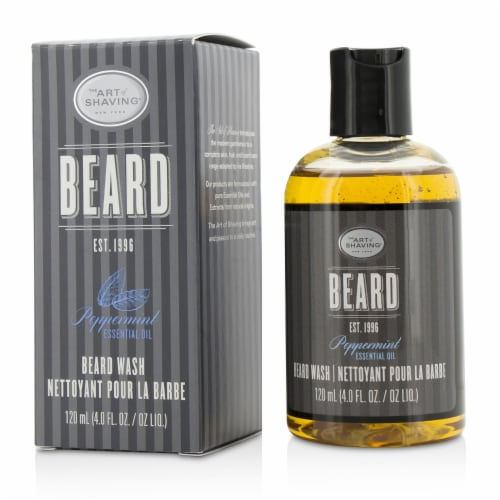 The Art Of Shaving Beard Wash  Peppermint Essential Oil 120ml/4oz Perspective: front