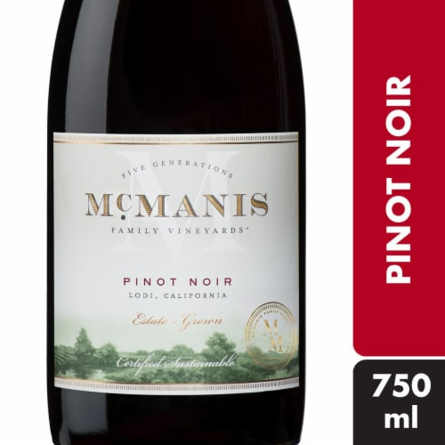 McManis Pinot Noir Red Wine Perspective: front