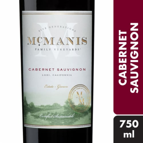 McManis Family Vineyards Cabernet Sauvignon Red Wine Perspective: front