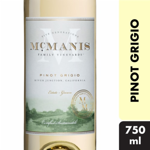 McManis Family Vineyards Pinot Grigio White Wine Perspective: front