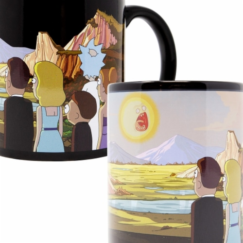 Rick & Morty 112789 Rick & Morty Sunset Heat Changing Mug Perspective: front