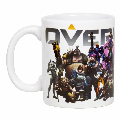 Overwatch Mug | Overwatch Characters and Logo Mug | Collector's Edition Perspective: front