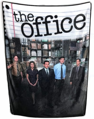 The Office Fleece Softest Throw Blanket Perspective: front