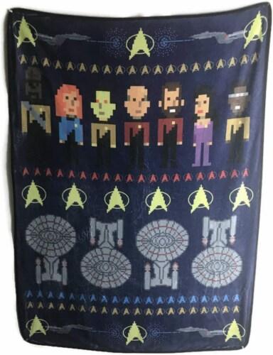 Star Trek The Next Generation Fleece Soft Throw Blanket Perspective: front