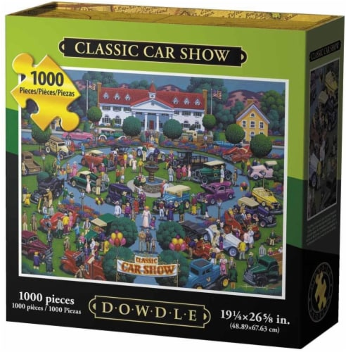 Dowdle Classic Car Show Jigsaw Puzzle Perspective: front