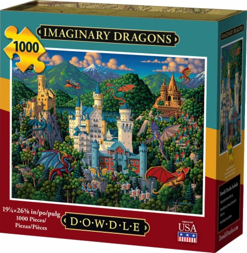 Dowdle Imaginary Dragons Jigsaw Puzzle Perspective: front