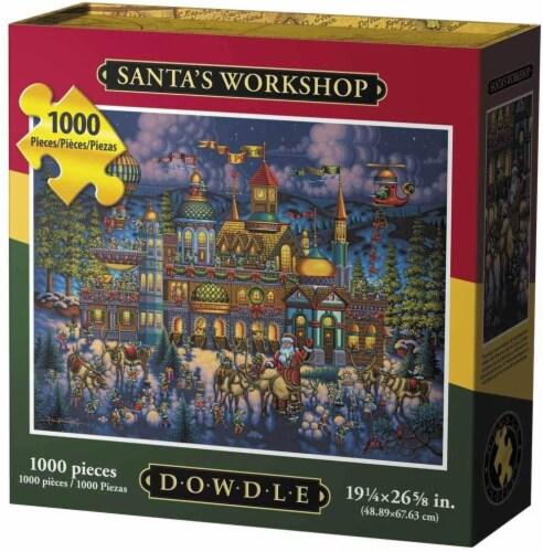 Dowdle Santa's Workshop Jigsaw Puzzle Perspective: front