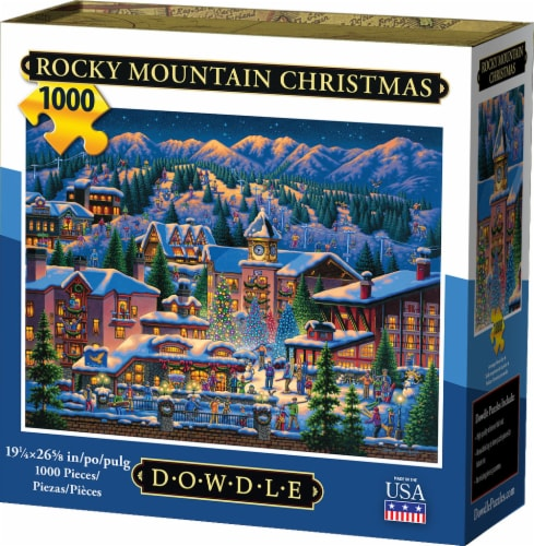Dowdle Rocky Mountain Christmas Jigsaw Puzzle Perspective: front