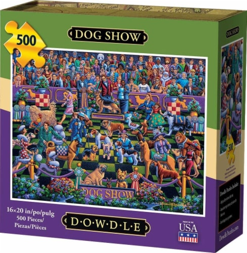 Dowdle Dog Show Jigsaw Puzzle Perspective: front