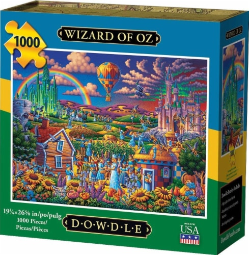 Dowdle Wizard of Oz Jigsaw Puzzle Perspective: front