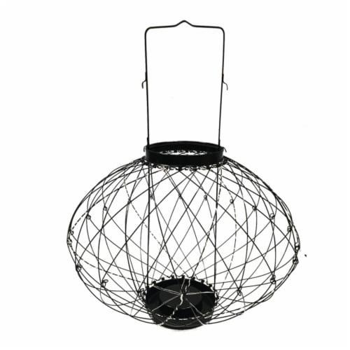 Infinity 8015764 LED Iron Flexible Lantern, Black Perspective: front