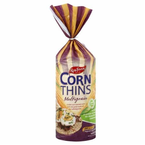 Real Foods Multigrain Corn Thins Perspective: front