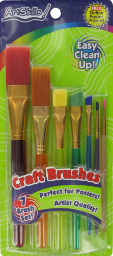 ArtSkills® Craft Brushes - 7 Piece Perspective: front