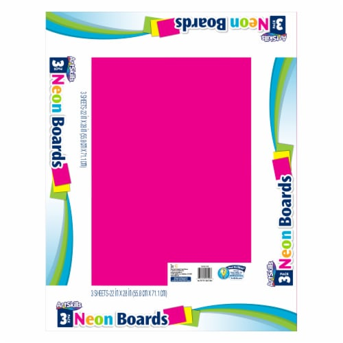 ArtSkills® Neon Poster Boards Perspective: front