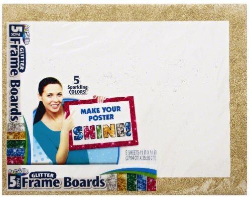 ArtSkills® Glitter Poster Frame Boards Perspective: front