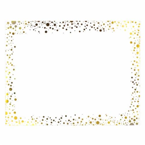 ArtSkills Quatrafoil Poster Board - White/Gold Perspective: front