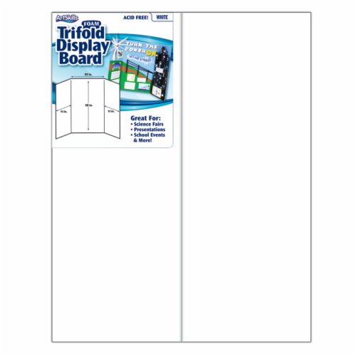 ArtSkills® Foam Trifold Display Board - White Perspective: front