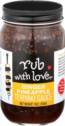 Rub with Love Ginger Pineapple Teriyaki Sauce Perspective: front